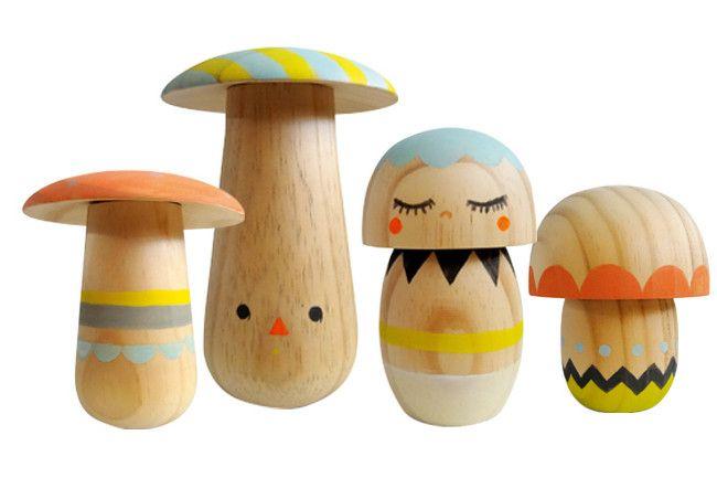 Wooden mushrooms ✏ All Things Lovely Pinterest Chambre enfant