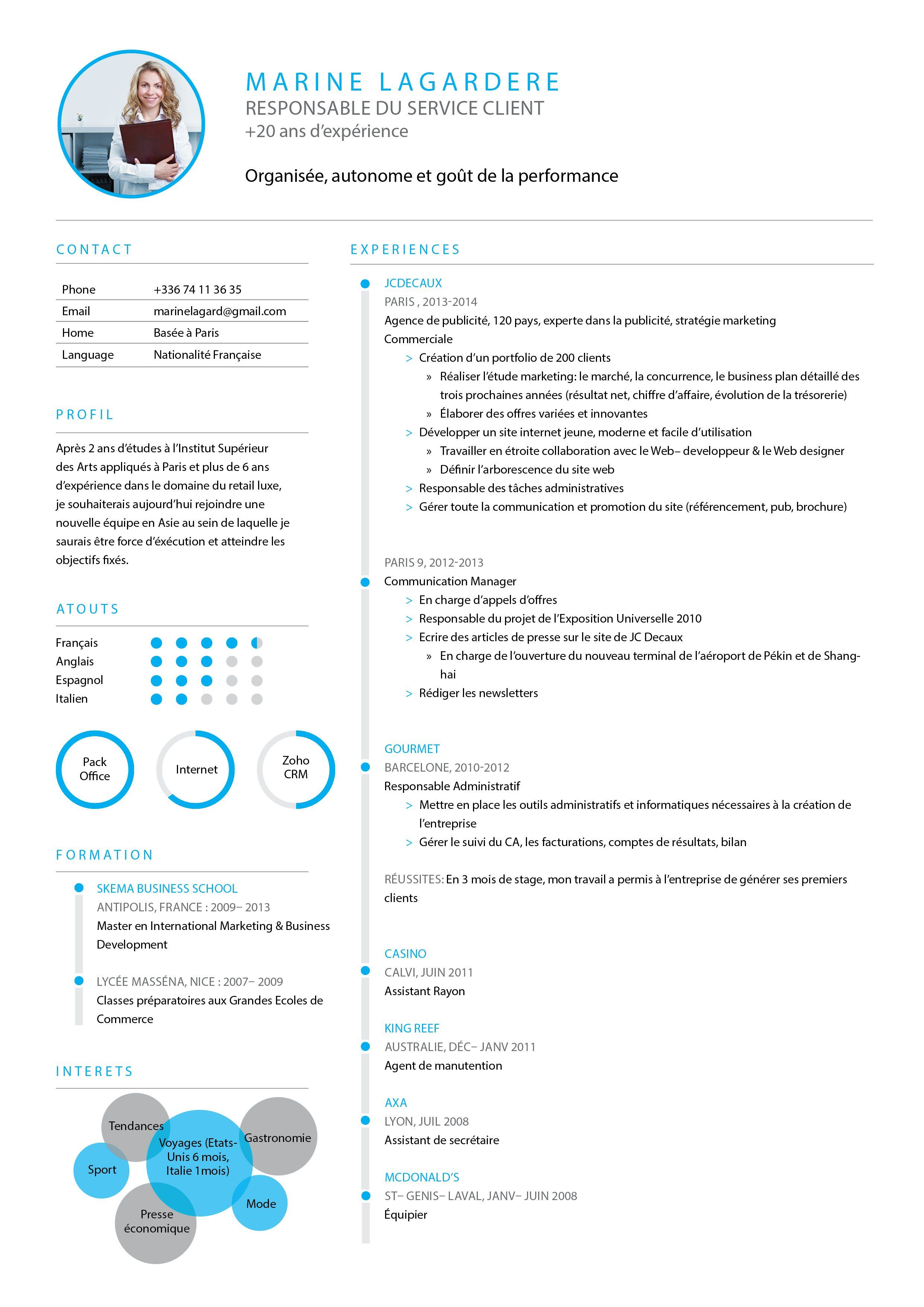 Cv Joli Cv Bien Presente Mycvfactory Creative Cv Resume Design Cv Design
