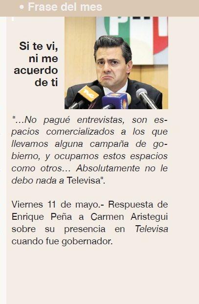 Frase del mes por Enrique Peña Nieto