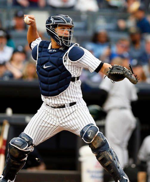 pretty nice cd765 74963 Men's Majestic New York Yankees #24 Gary Sanchez Navy Blue ...