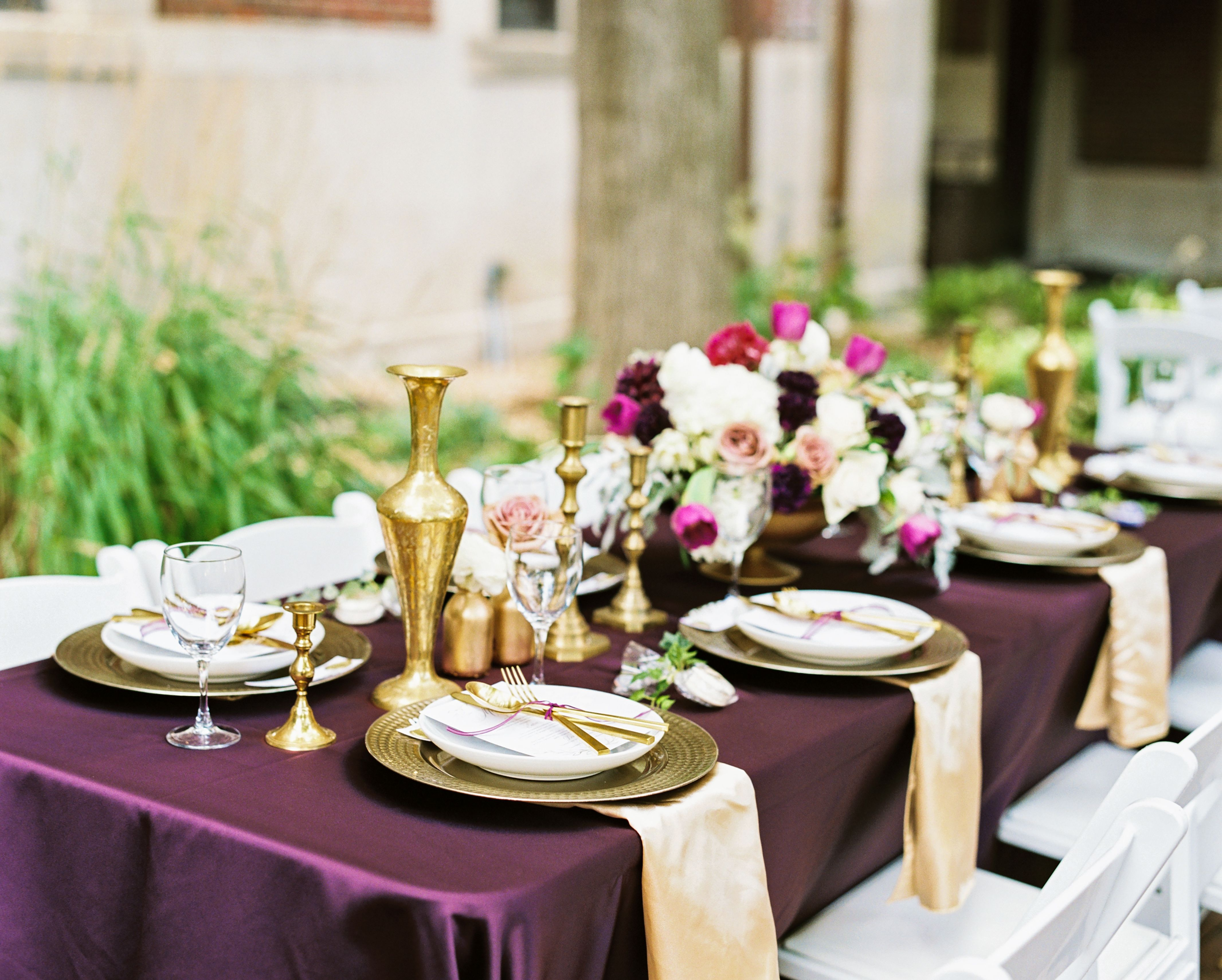Ann arbor wedding in a private courtyard university of