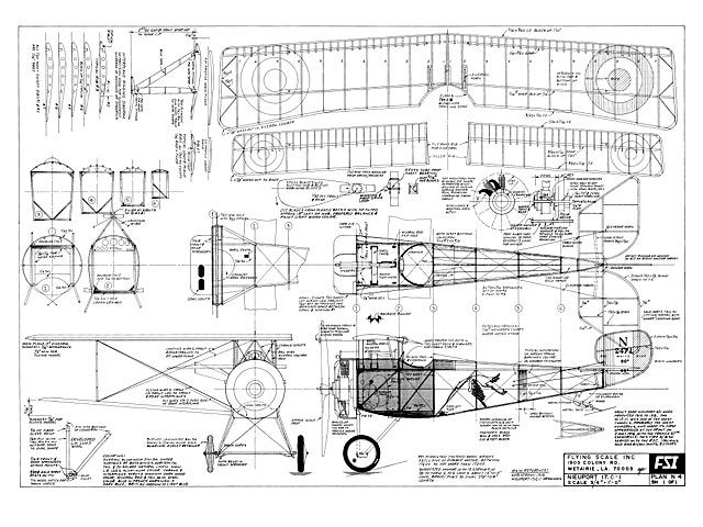 Nieuport 17 C-1 - 30 | Balsa wood model airplane plans