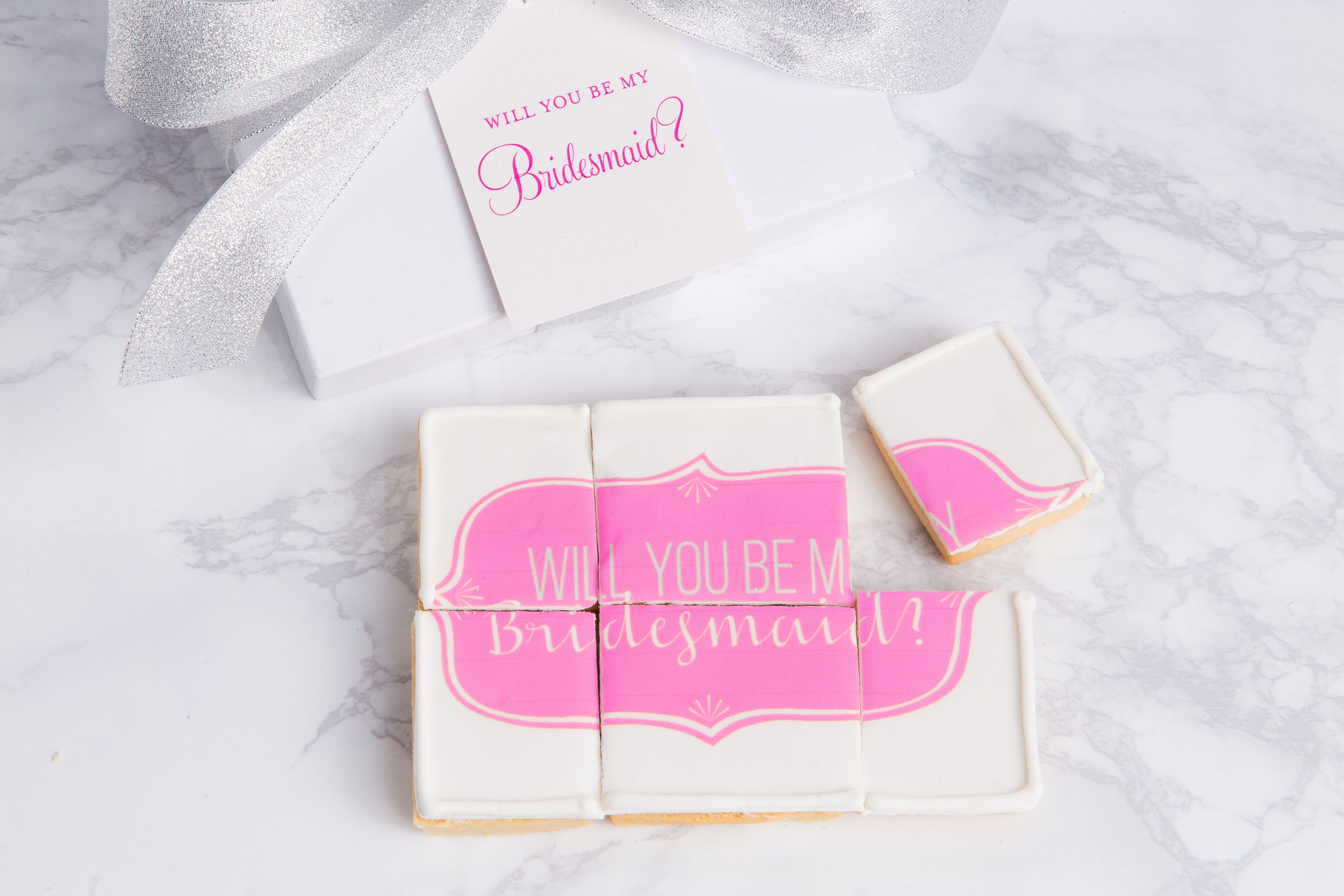 """Will You Be My…"""" Puzzle Cookie Gift Box #SweetEs #bakeshop #cookies ..."""