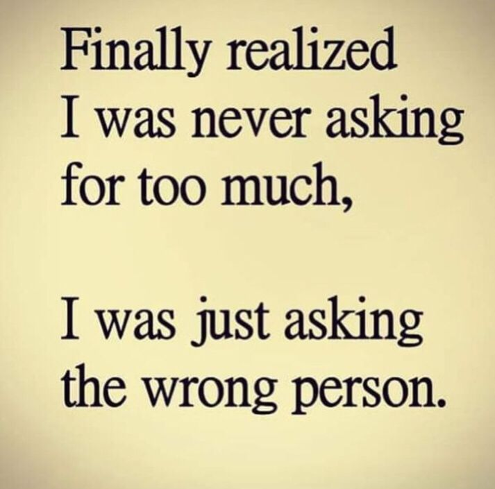 Stop asking from the wrong person!