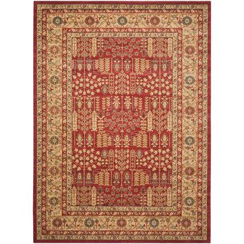 Denton Rug in Red & Natural 10'x 14' |  $570.60