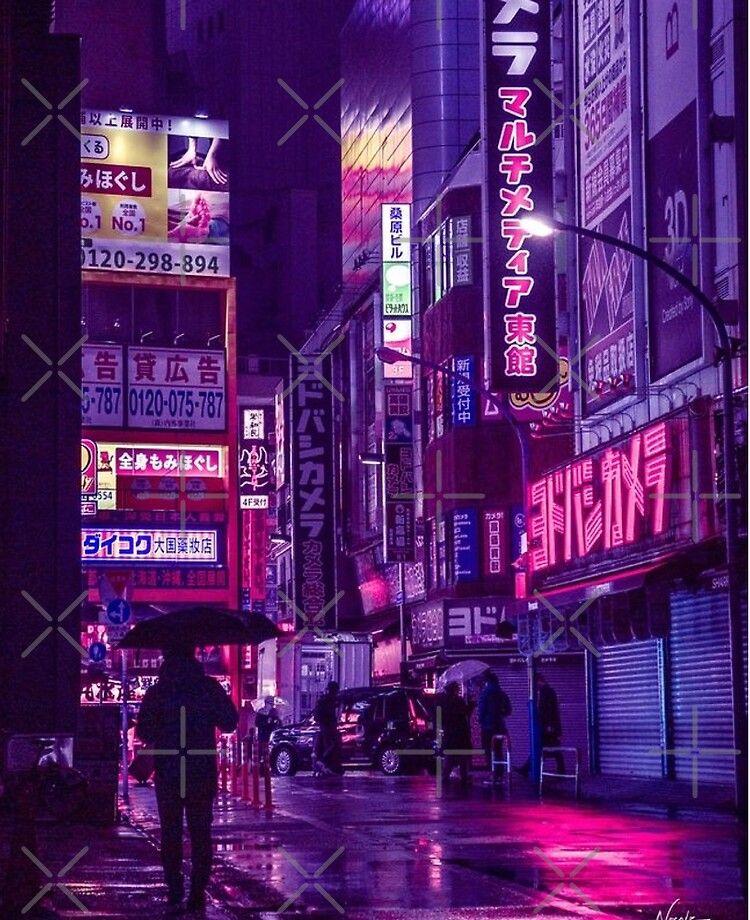 Japanese City Tokyo 12 Ipad Case Skin By Amarkii Redbubble Purple Wallpaper Purple Wallpaper Iphone Dark Purple Aesthetic Wallpaper iphone aesthetic tokyo