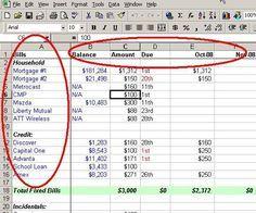 personal budget plan