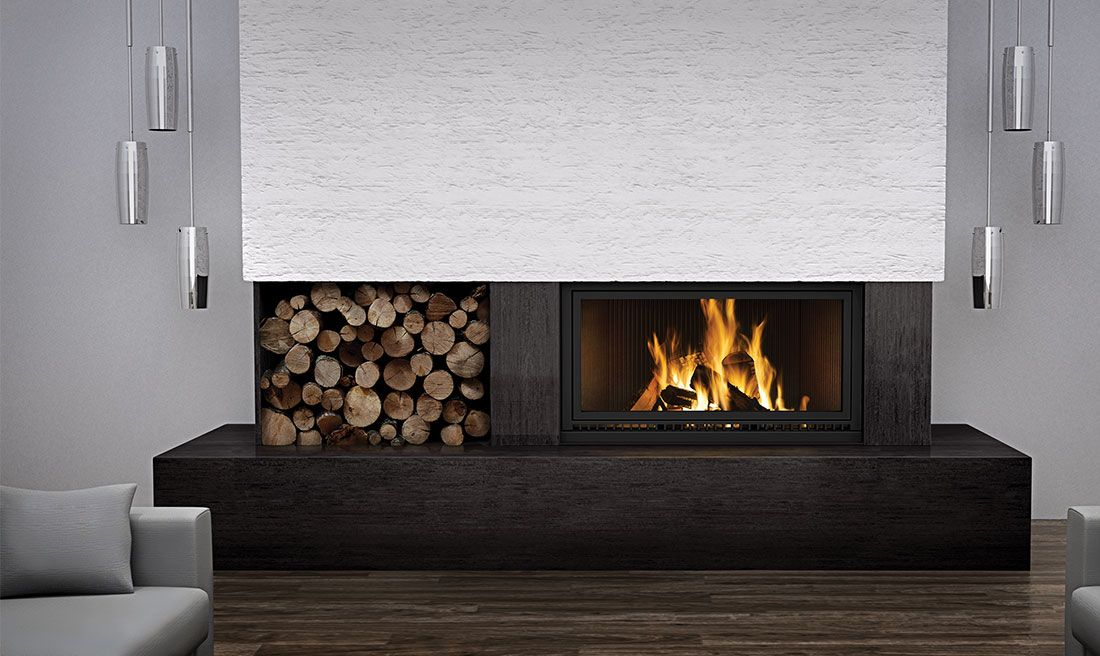 Napoleon High Country Nz7000 Linear Wood Burning Fireplace Wood