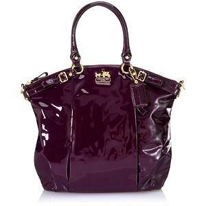 ab8563b179 Coach Madison Patent Lindsey Satchel Handbag
