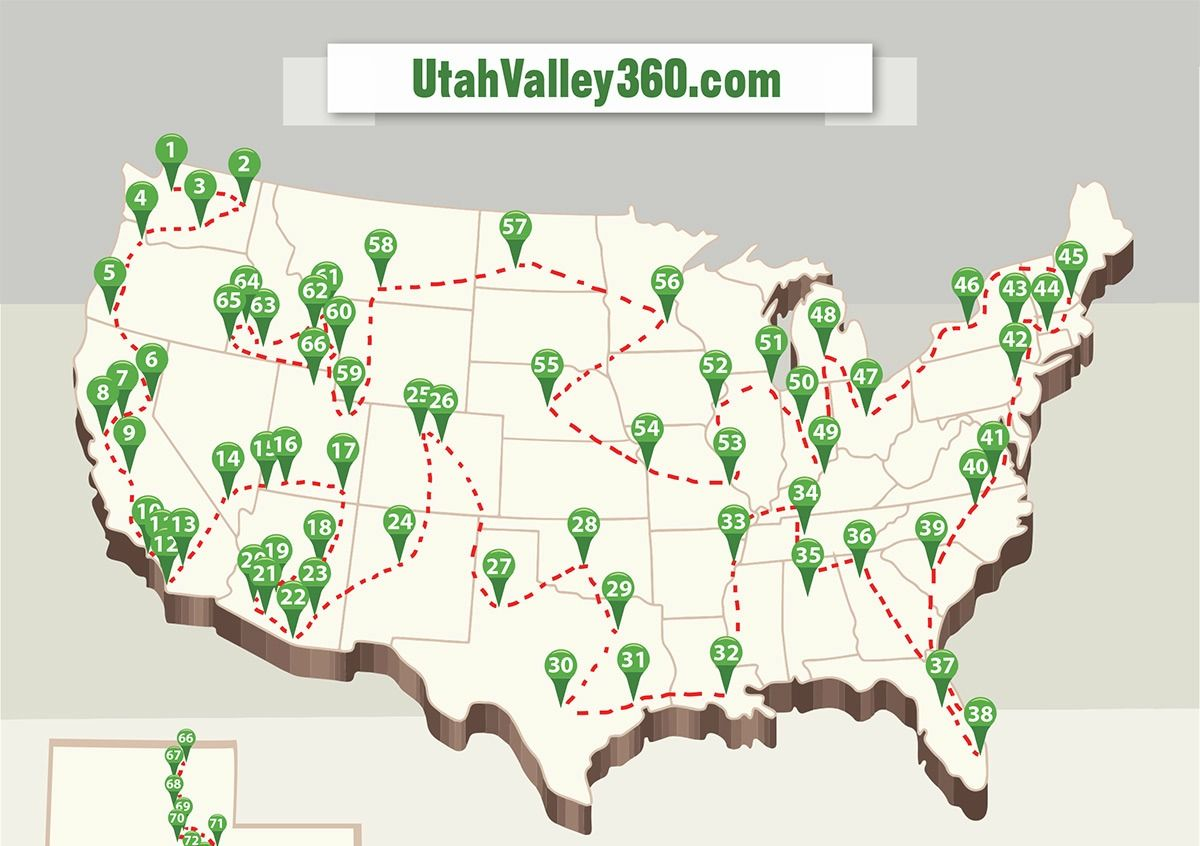Map Of Arizona Lds Temples.How To Visit Every Lds Temple In The Usa In 79 Days Family