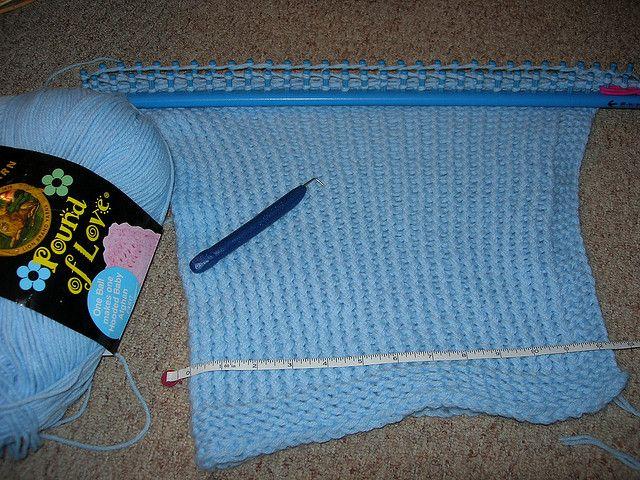 Loom Knitting Blanket Baby Blanket Loom Knit Kk Long Blue Loom