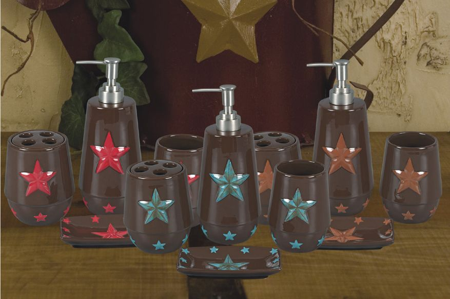 Texas Lone Star Bathroom Set 59 99 Western Bathroom Decor Bathroom Red Kitchen Decor Styles