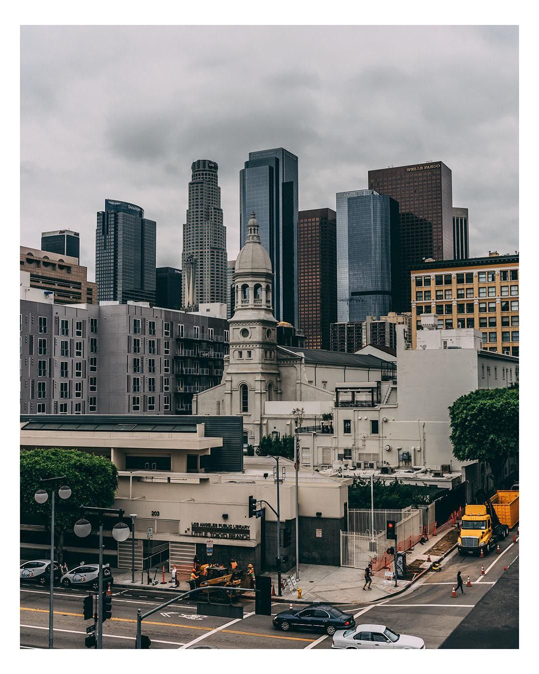 Dtla On A Cloudy Day Oc City Cities Buildings Photography Cloudy Day City Aesthetic Cloudy
