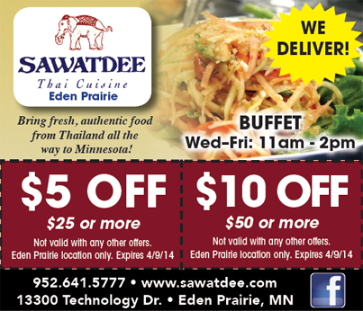 Get 5 10 Off The Best Thai In Town At Sawatdee Restaurant Sangria Dinner Wildfire Eden Prairie