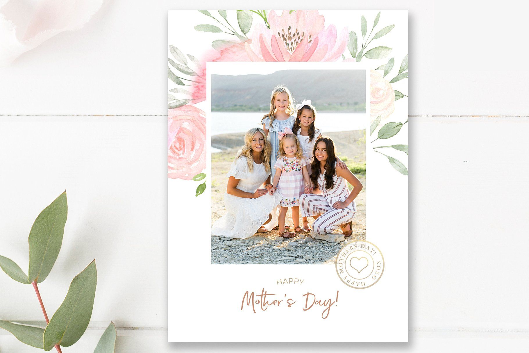Mother S Day Photo Card Template Photo Card Template Personalized Mother S Day Gifts Card Template