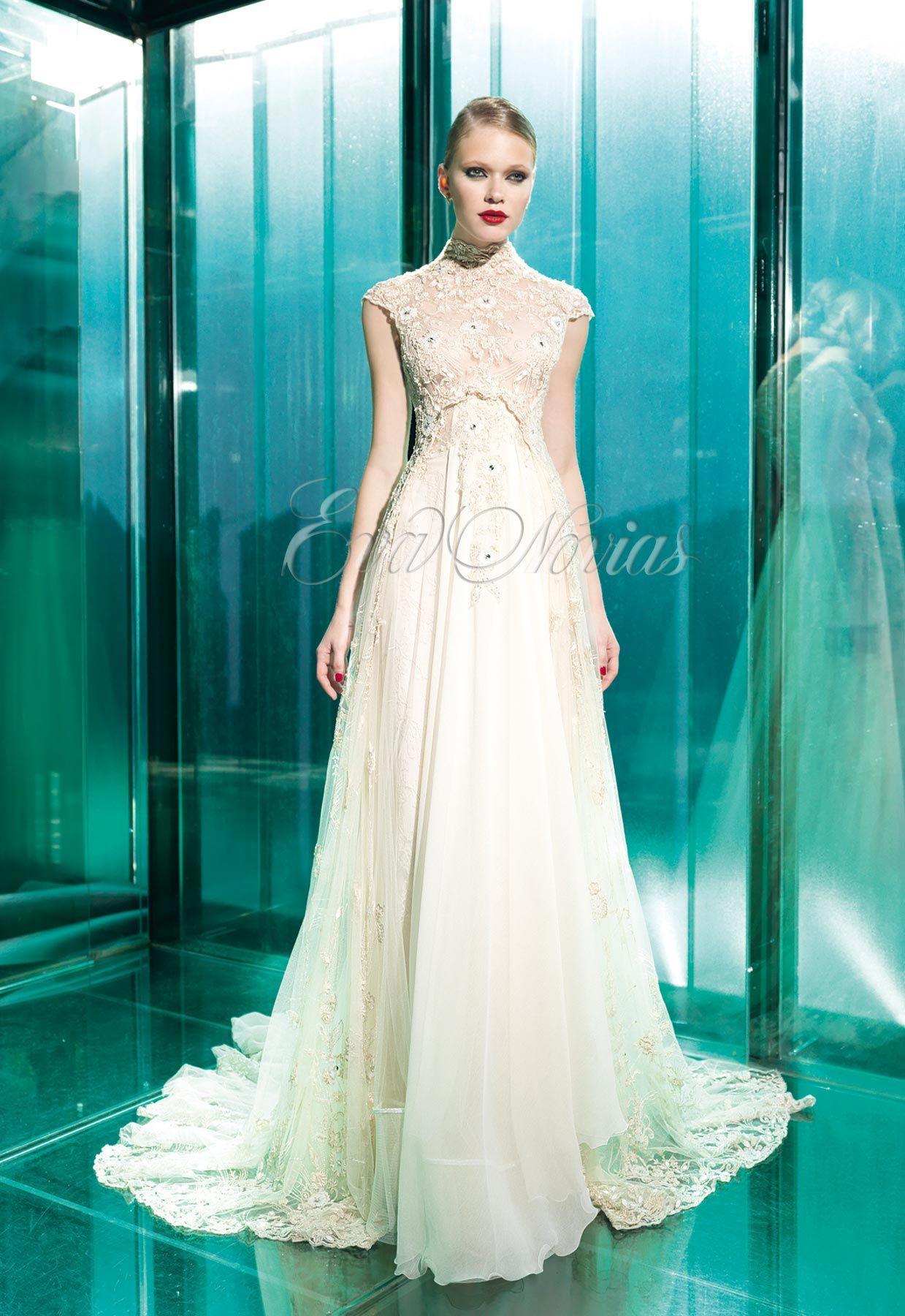 Vestido de novia de Yolancris modelo Bonny en Eva Novias. Via www ...