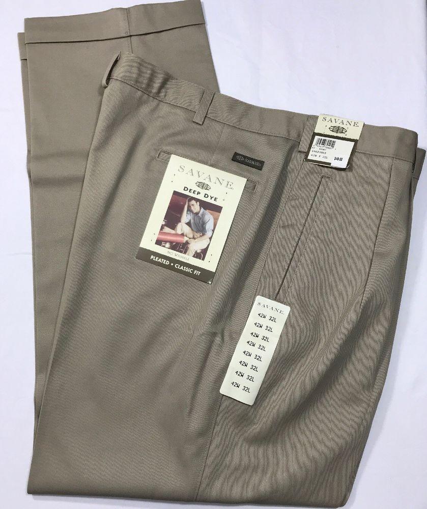9e6f84fc4108 Mens Savane Active Flex Classic Fit Flat Front Dress Pants | Saddha