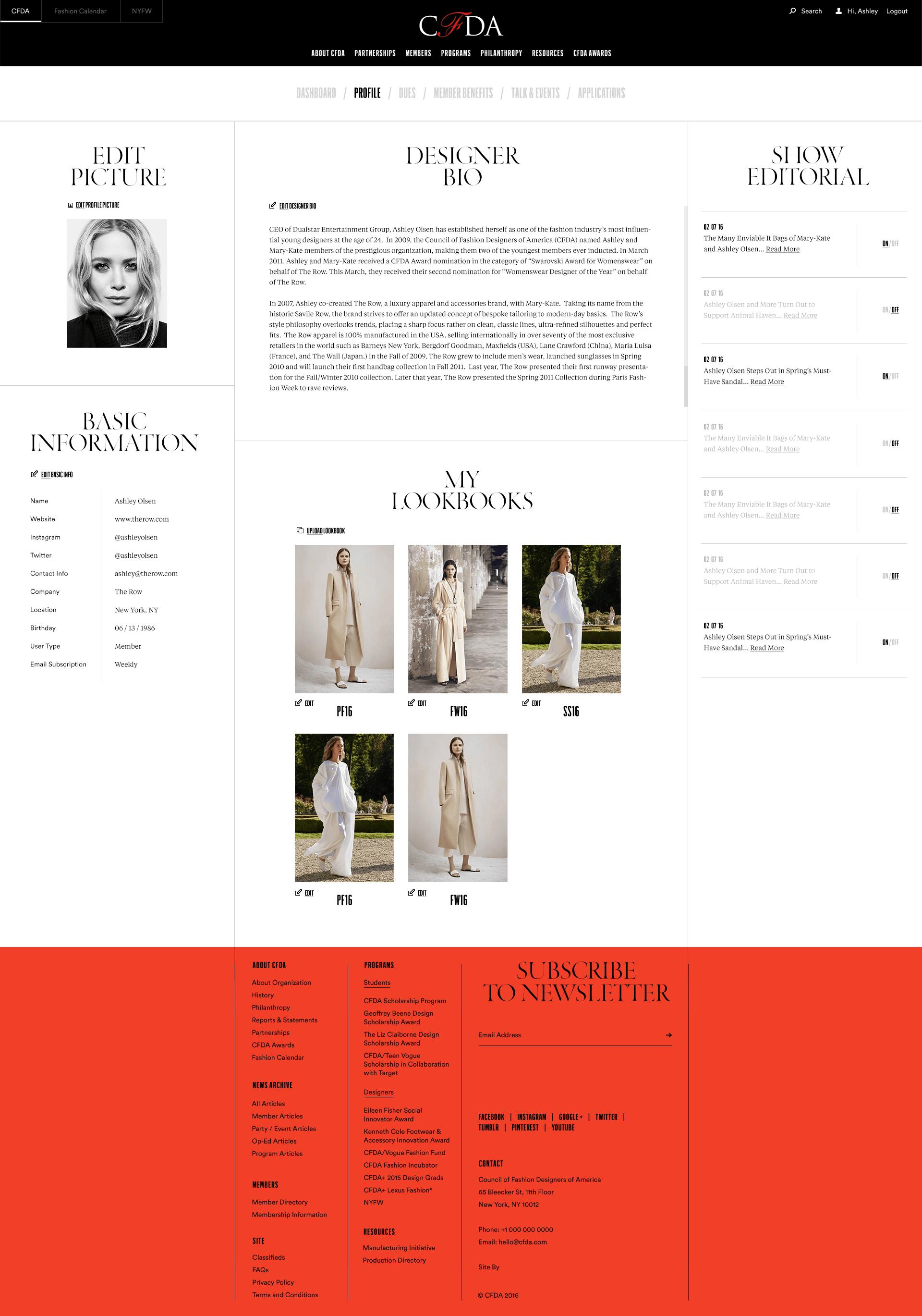Editorial Web Design Cfda Hugo Marie Nyc Web Design Web Design Tips Layout Design Inspiration