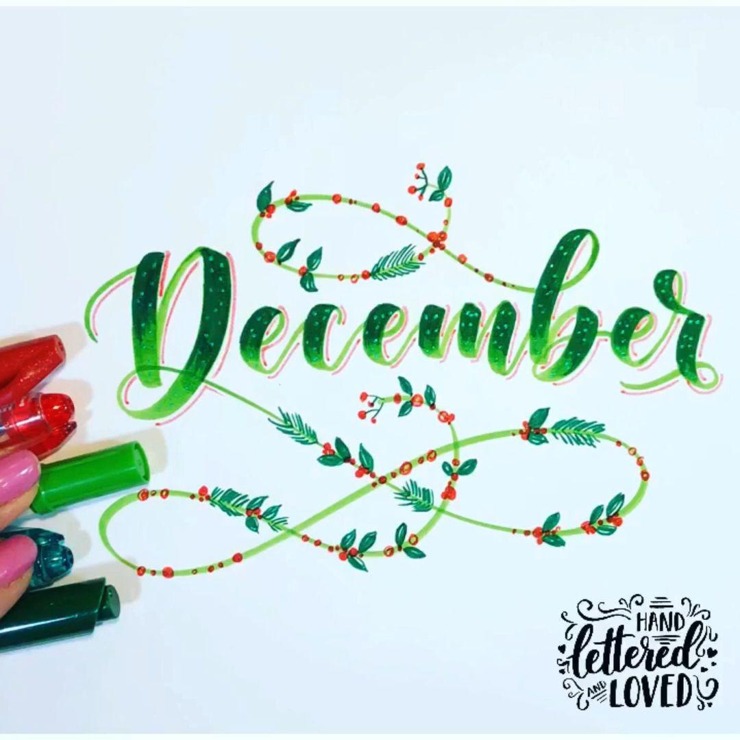 Photo of Brush lettering December