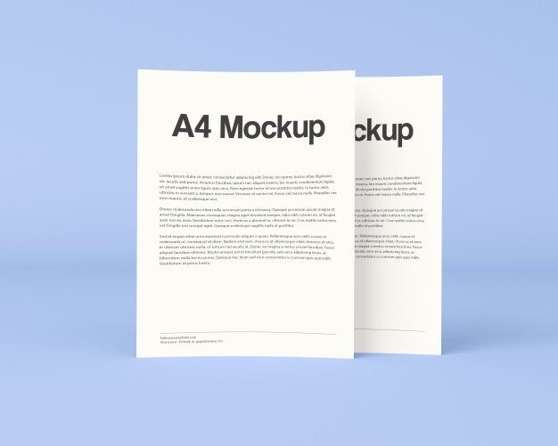 Download Two Documents On Blue Background Mock Up For Free Business Card Mock Up Business Brochure Name Card Design