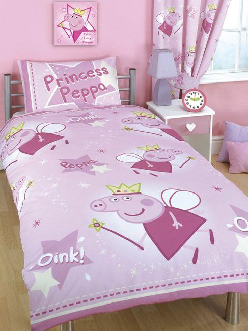 Peppa Pig Duvet Cover and Pillowcase Stars Design Kids Bedding ... : peppa pig quilt cover set - Adamdwight.com