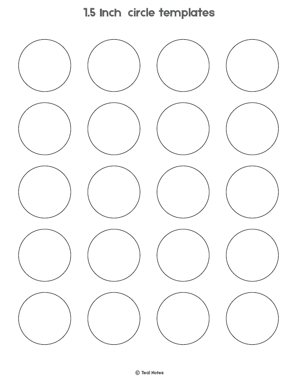 Circle Template Free Printable Circle Templates For Your Next Diy Project Templates Printable Free Printable Circles Labels Printables Free Templates