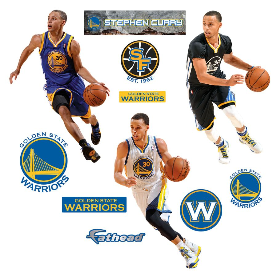 85f2a10ee24f Stephen Curry  Hero Pack - X-Large Officially Licensed NBA Removable Wall  Decals Fathead Wall Decal