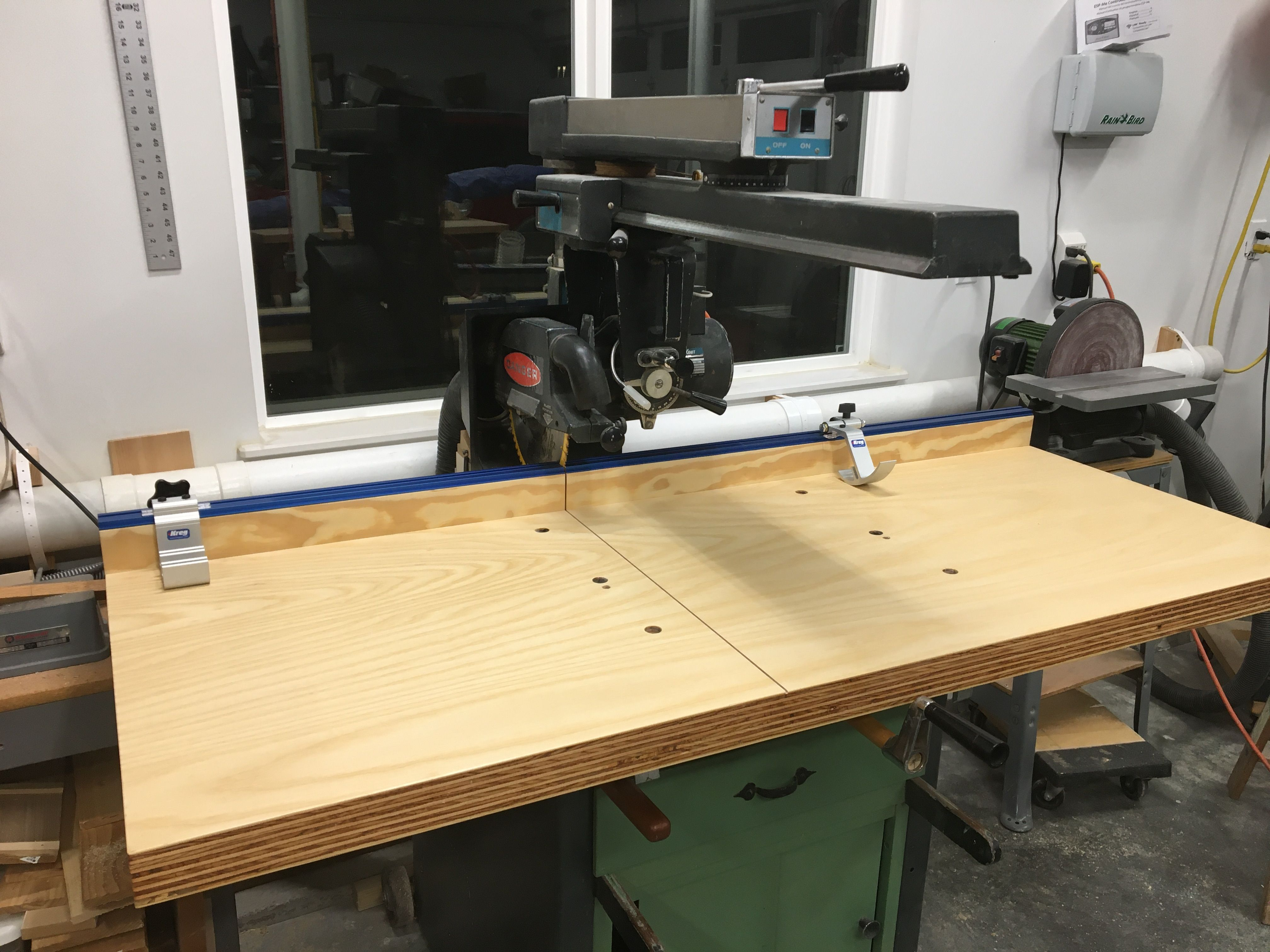 Radial Arm Saw Table Upgrade In 2020 Radial Arm Saw Table Home Decor Table