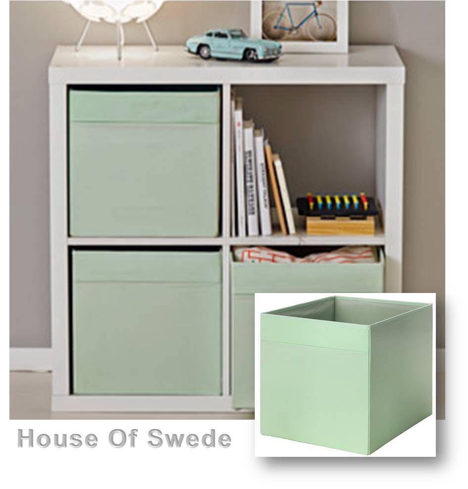 IKEA Storage Box Expedit Bookcase Shelf Cube DRONA Toy Organiser LIGHT GREEN