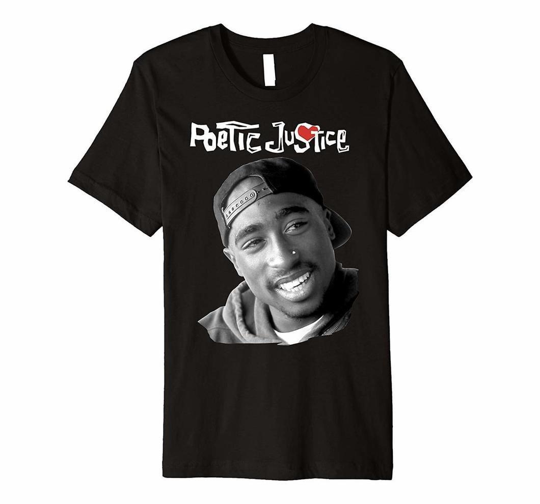 Poetic Justice Tupac Smiling Portrait Premium T Shirt Tshirts20200218 In 2021 Poetic Justice T Shirt Tupac