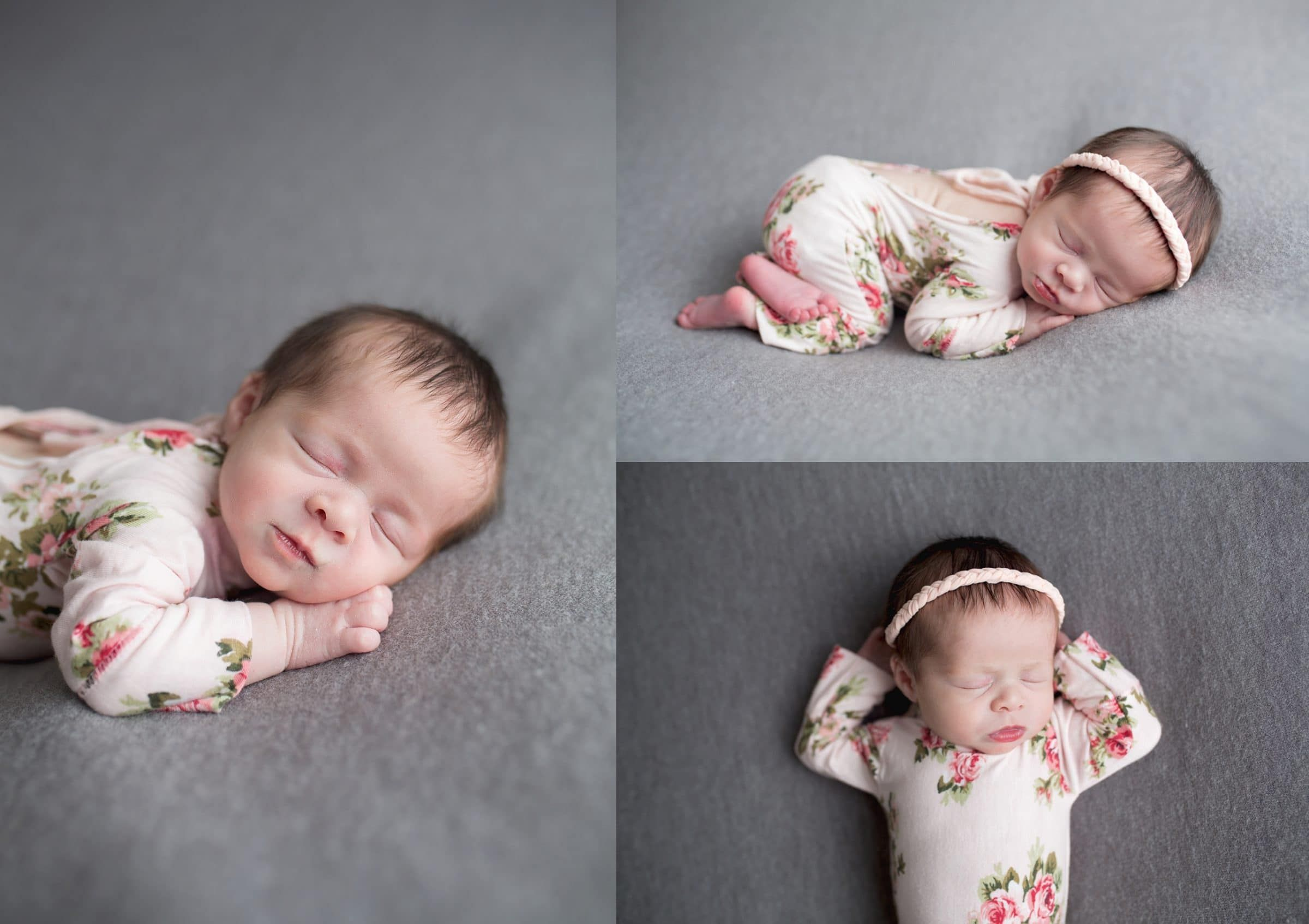 Dont you just love her little newborn floral romper temple texas newborn photographer