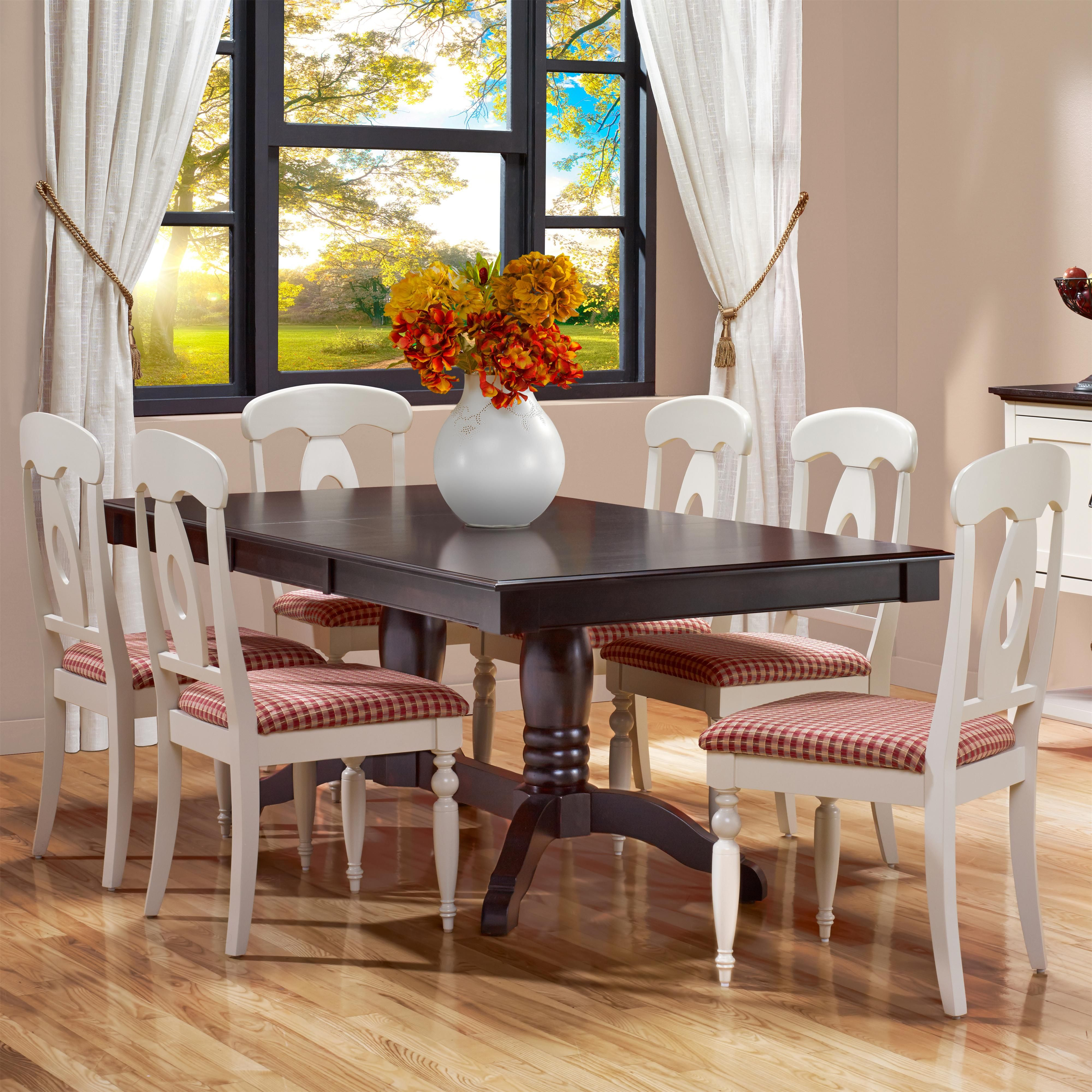 gourmet  custom dining customizable rectangular table set