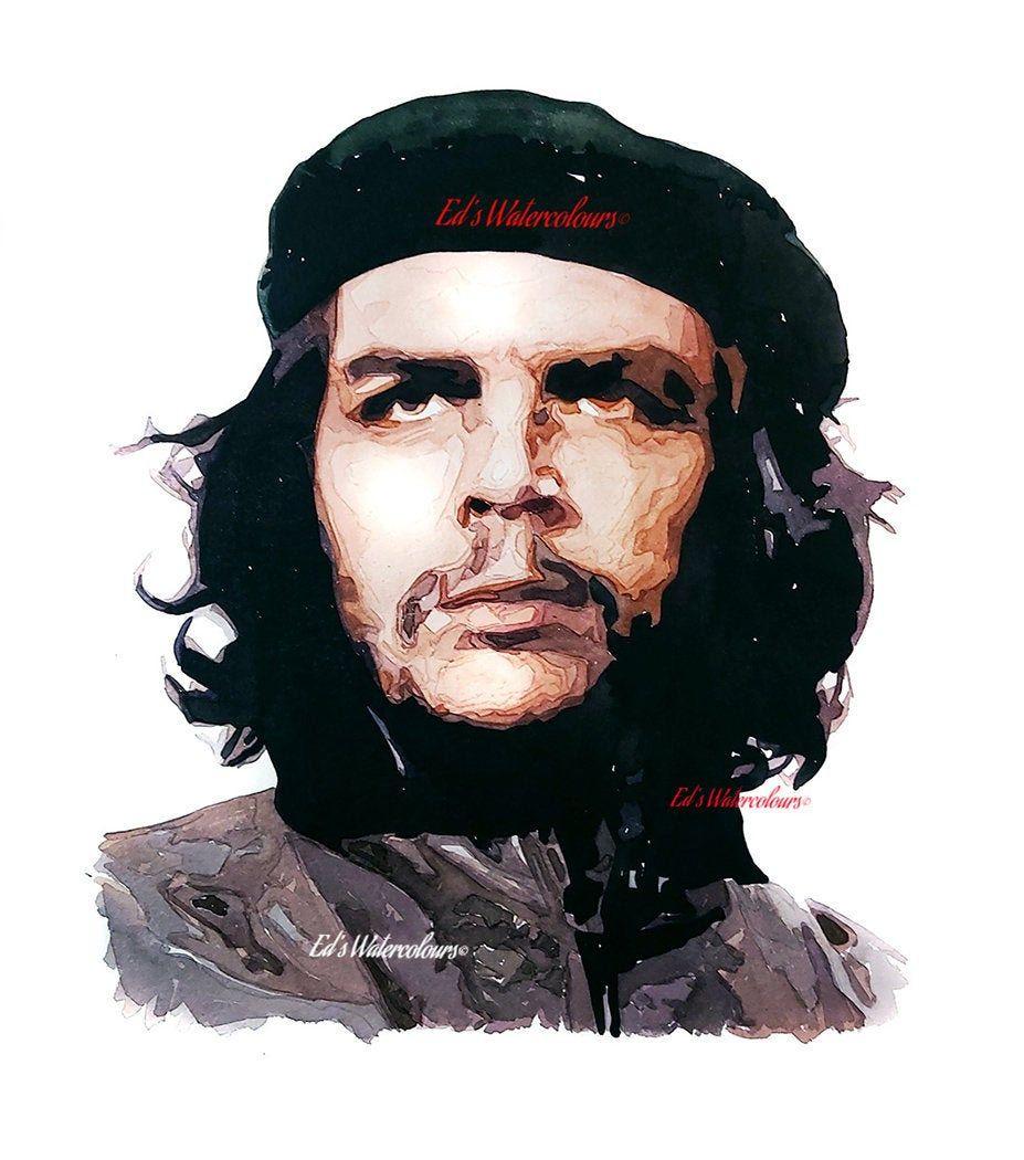 Che Guevara Print Watercolour.Che Guevara art,Che Guevara print,Che Guevara watercolour,Che Guevara,Che Guevara painting