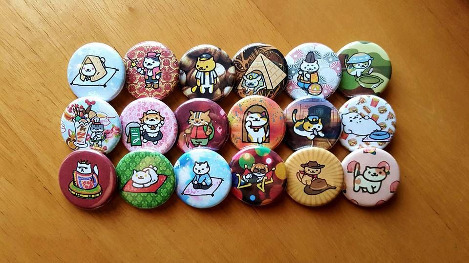 Unique rare buttons related items Etsy Neko atsume