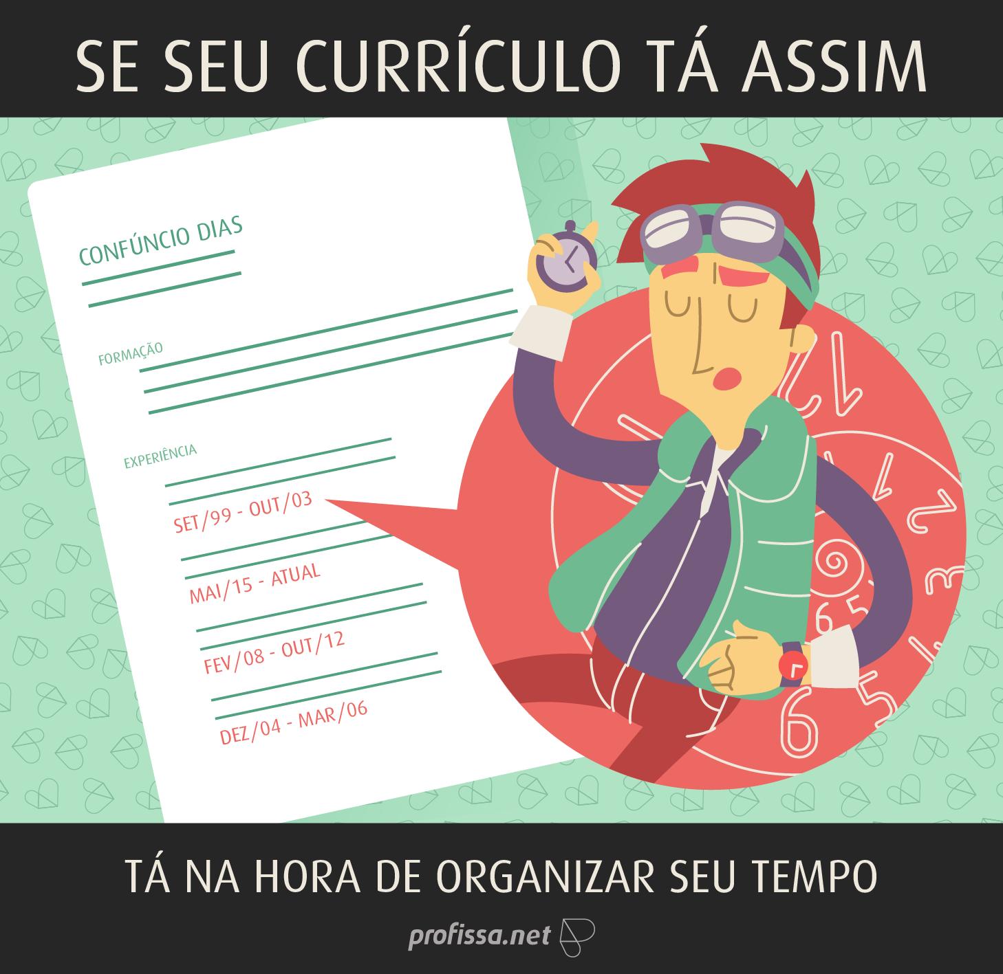 Desorganização no Currículo www.profissa.net