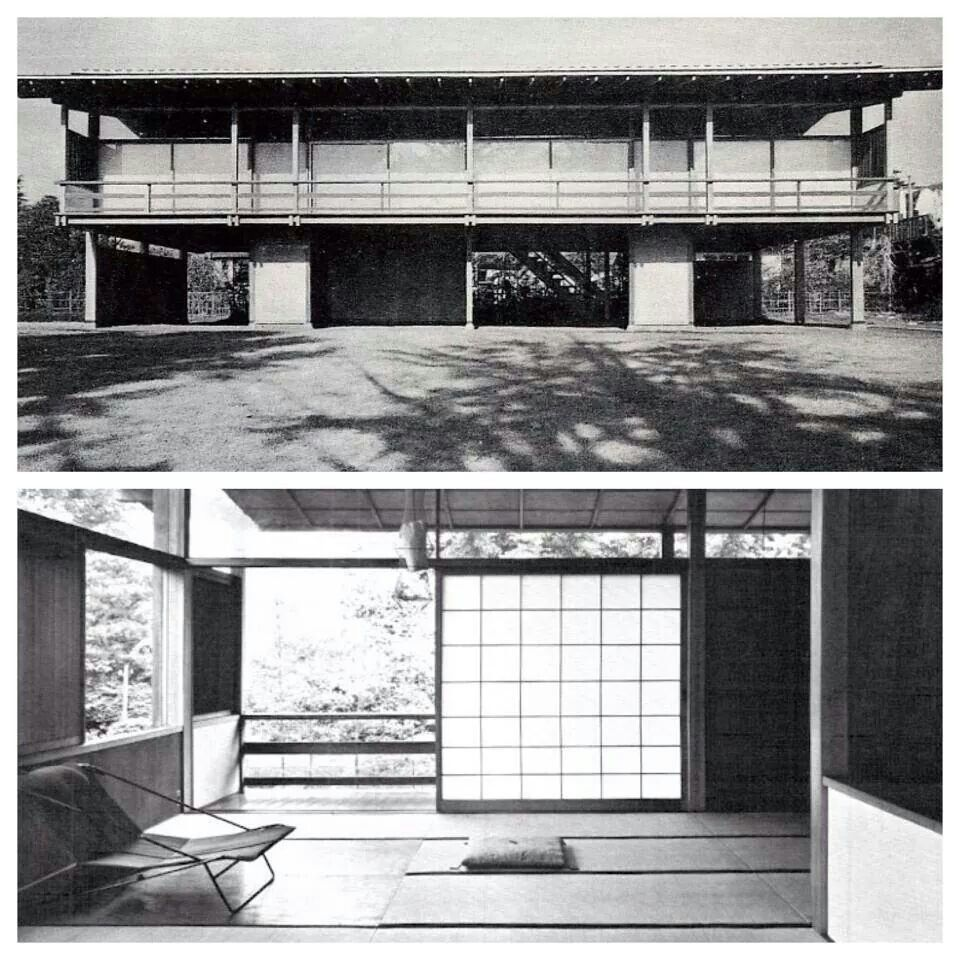 Kenzo tange 39 s own house 1953 architecture volumes pinterest architektur bau and bauhaus - Moderne architektur japan ...