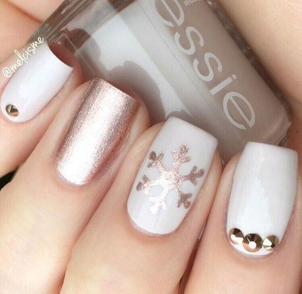 37 Pretty Nail Designs Ideas For Spring Winter Summer And Fall -   20 holiday Nails winter ideas