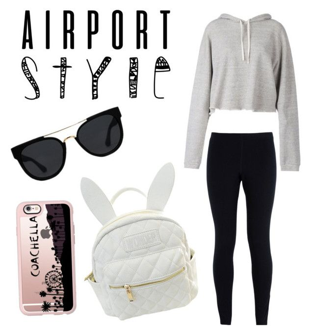 """Untitled #4"" by isobel-ty ❤ liked on Polyvore featuring NIKE, Faith Connexion, cutekawaii, Quay, Casetify, GetTheLook and airportstyle"