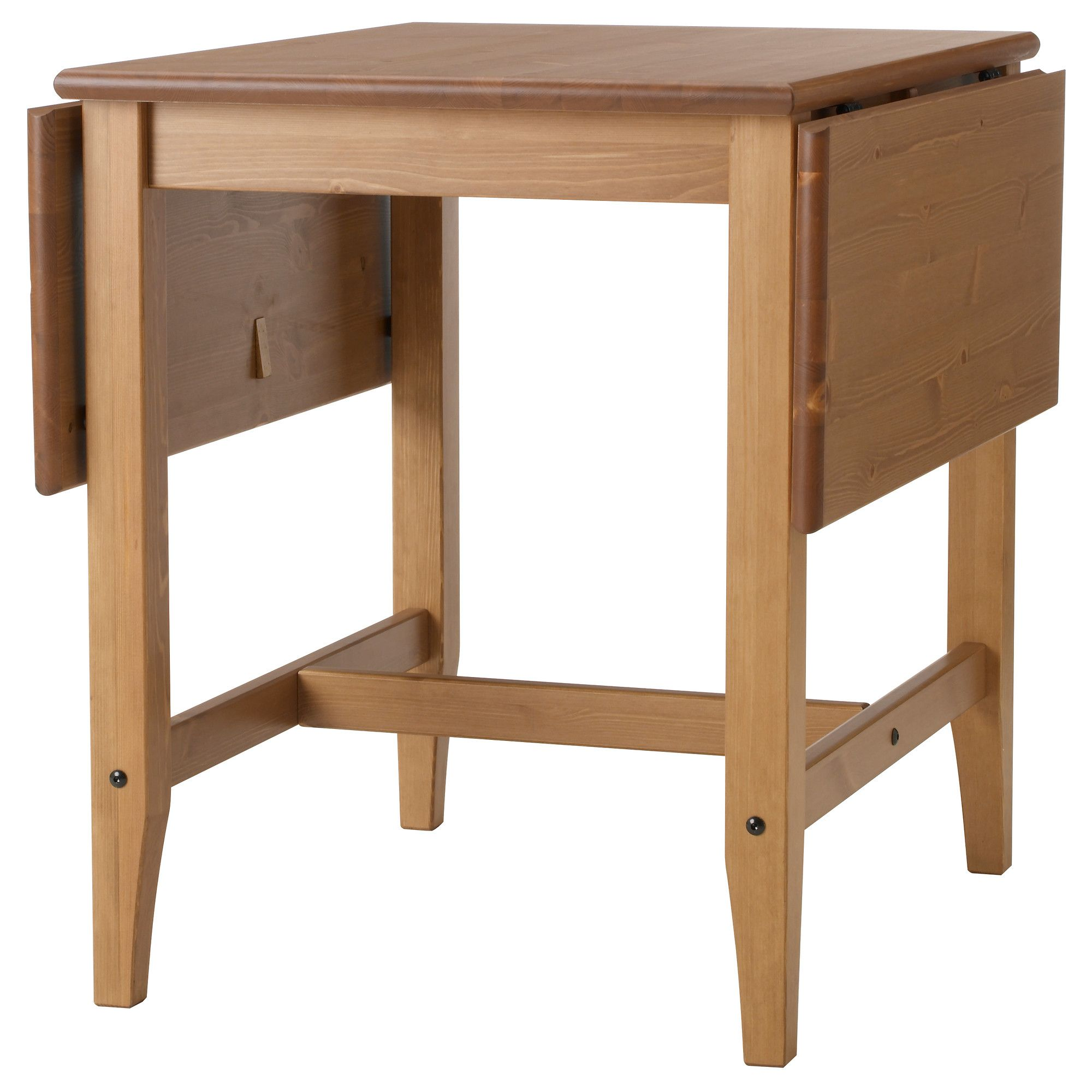 LEKSVIK Drop leaf table 59 119 x 78 x 74H solid pine birch clear