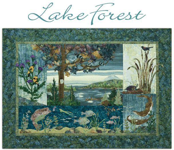 Lake Forest Landscape Quilts Forest Quilt Art Quilts