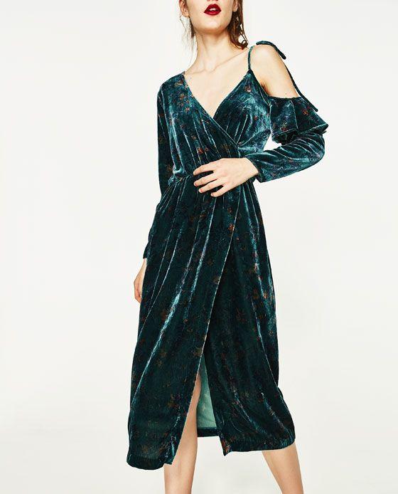 Zara Kjole Silk Velour amp; Velvet Af I Fra Tøj Billede Kjole 3 vRZYYq
