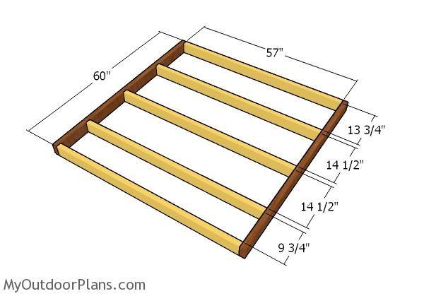 building the floor frame | deer blinds | pinterest | floor framing