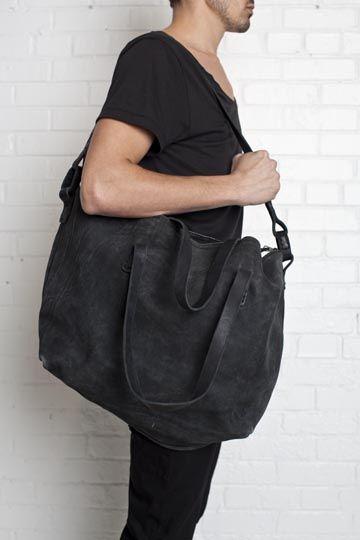 fdba953a0f5 reversed leather messenger bag - Boris Bidjan Saberi Mode Homme