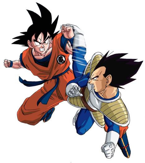 Goku Vs Vegeta Goku Y Vegeta Peleando Goku Y Vegeta Personajes De Dragon Ball