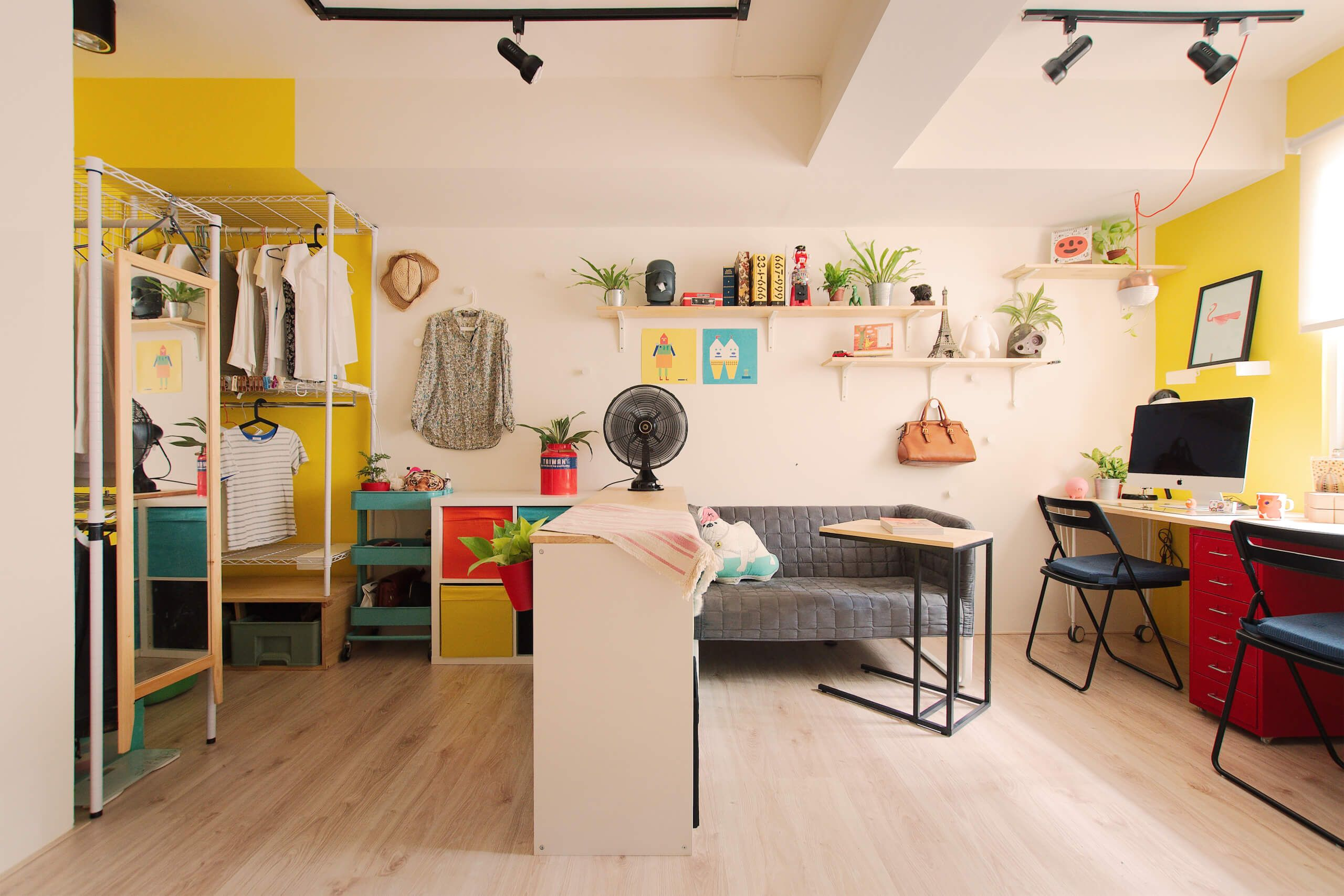 This Colorful Studio Apartment Is Not Your Average Basement Loft