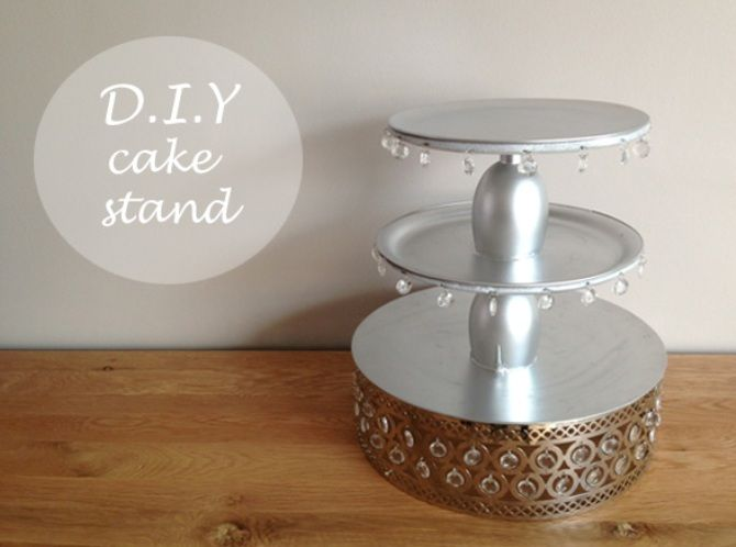 D I Y Cake Stand The Asian Fashion Journal