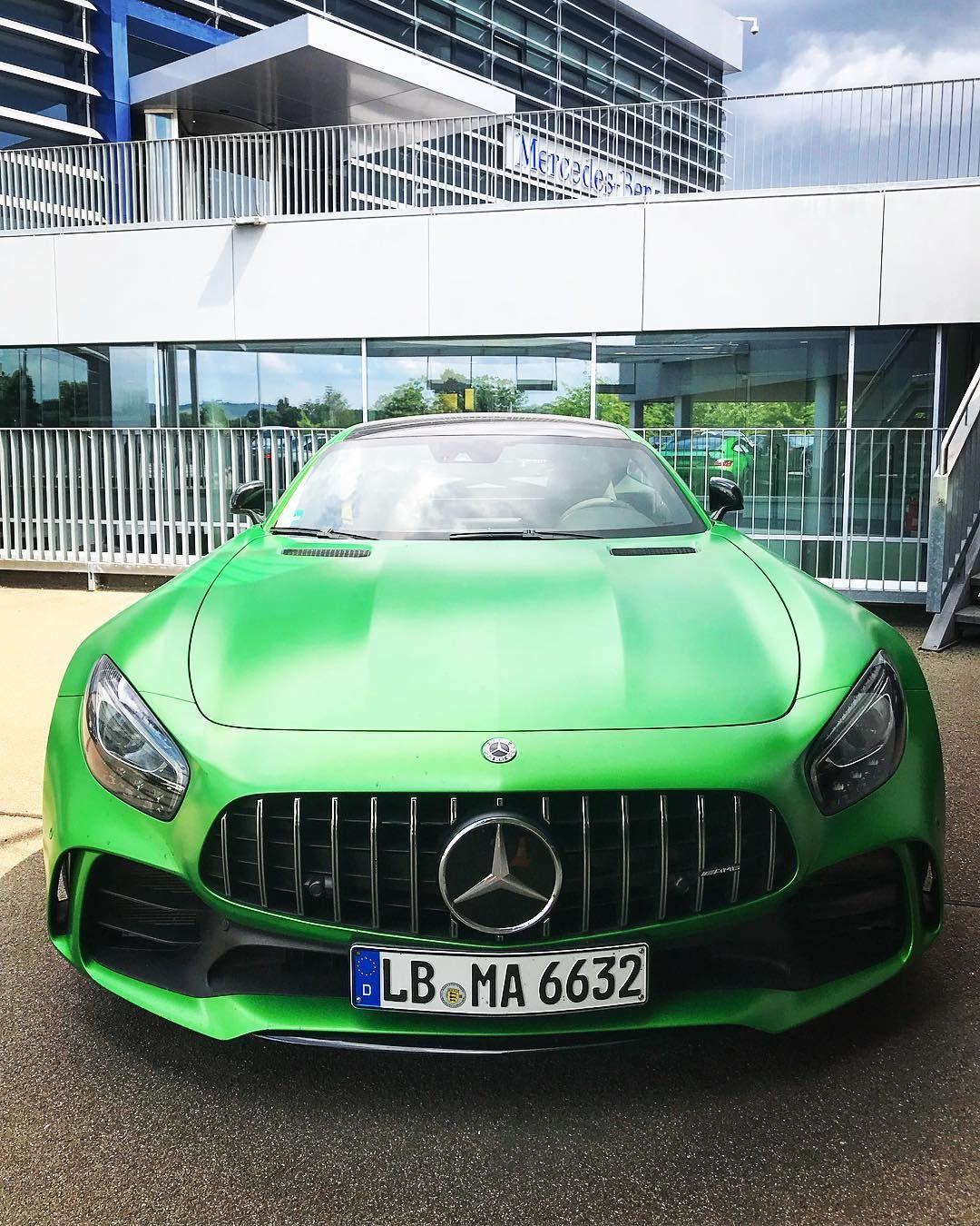 Green Hornet Mercedes-AMG GT R #mercedes #benz
