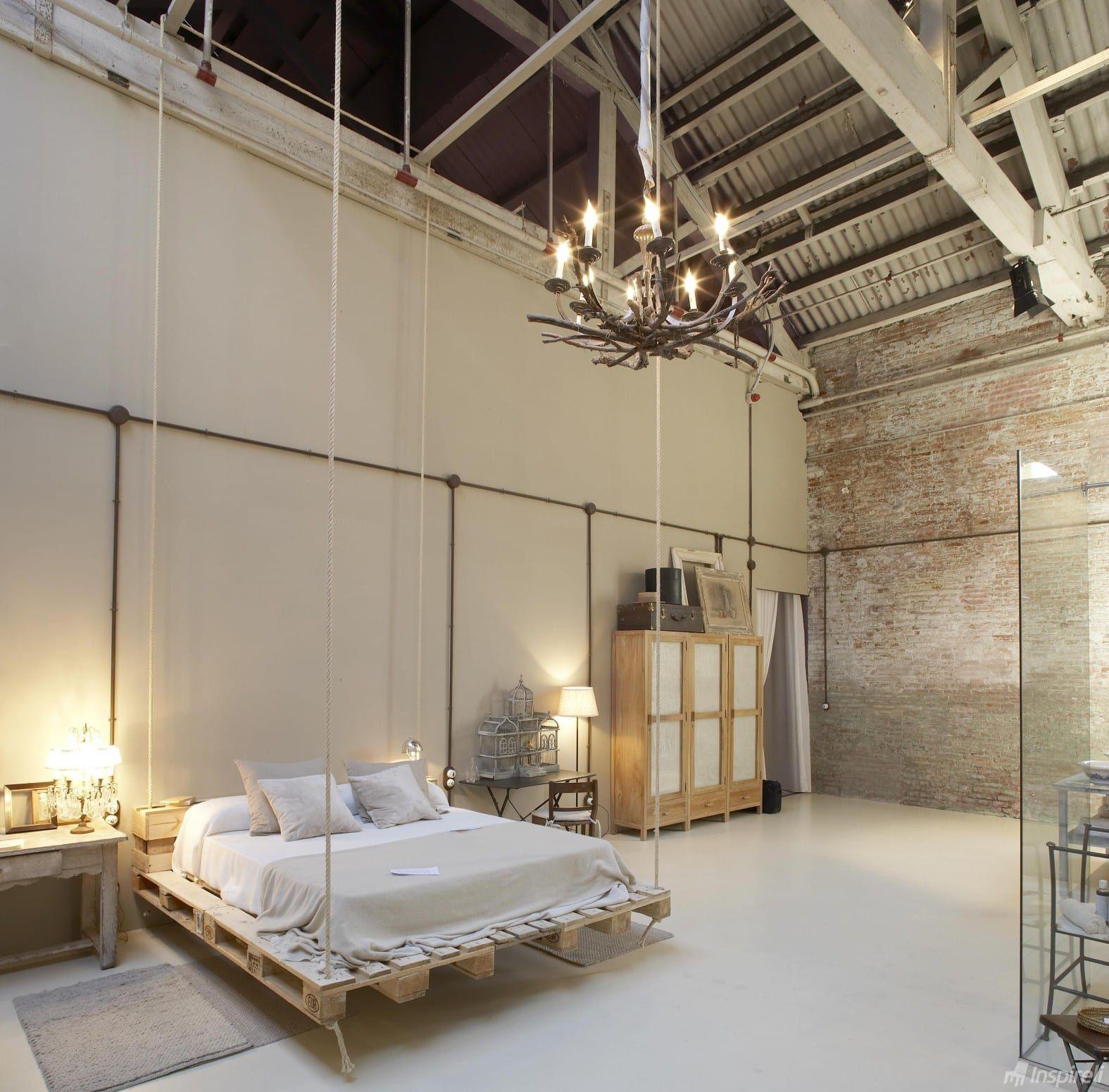 Cama colgante con palets camas Pinterest