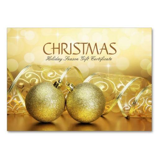 Christmas And Holiday Season Gift Voucher Business Card Business - make your own gift voucher template