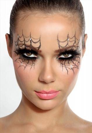 Chica Telaraña Sencillo y sexy Maquillaje Halloween Pinterest - sexy halloween decorations